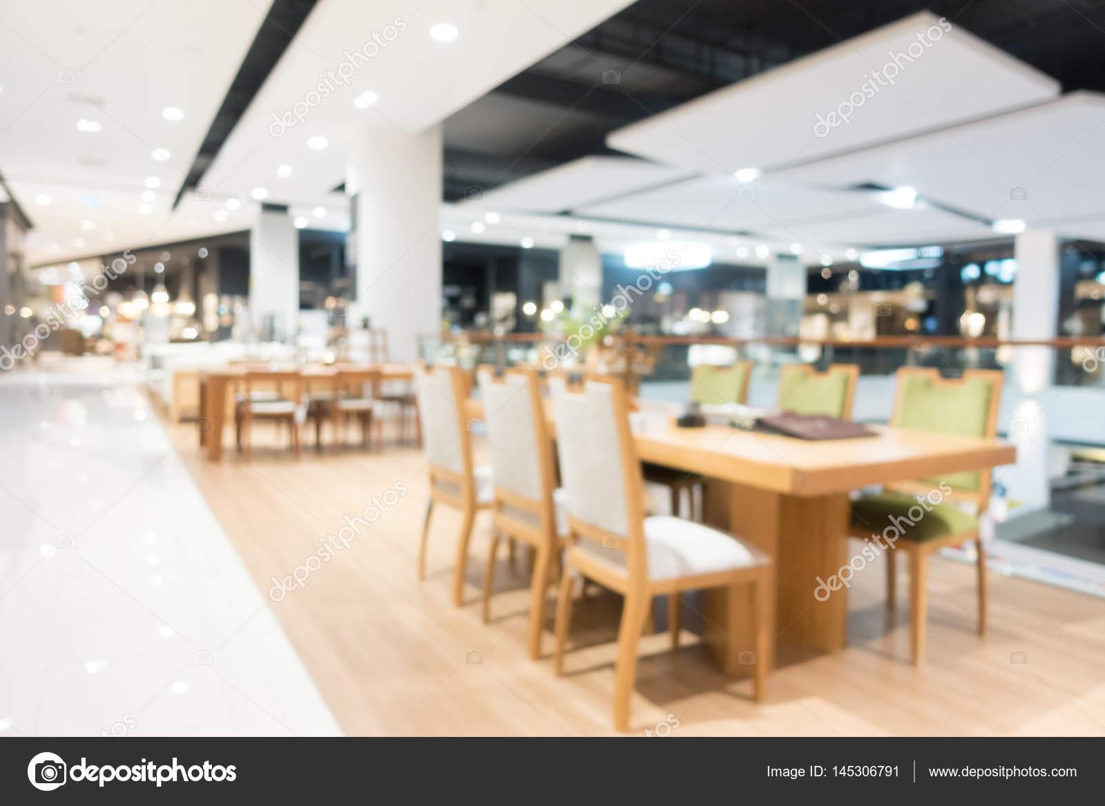 Resumen Blur Tienda De Muebles Y Tienda Interior Foto De Stock  # Muebles Para Food Court