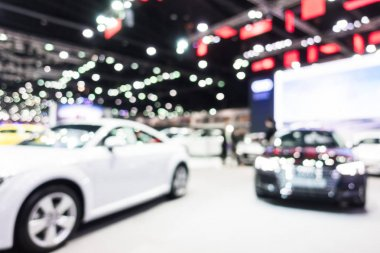 Abstract blur and defocused car and motor exhibition show