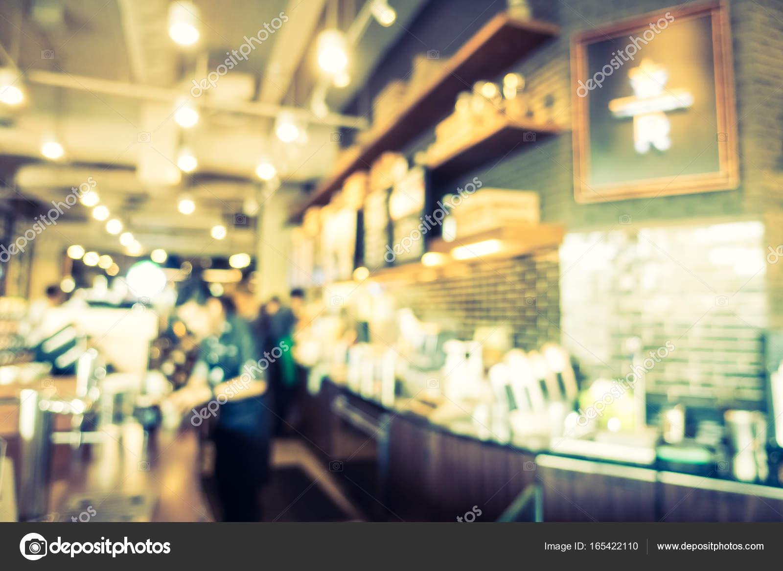 Abstracte onscherpte en intreepupil koffiehuis café interieur ...