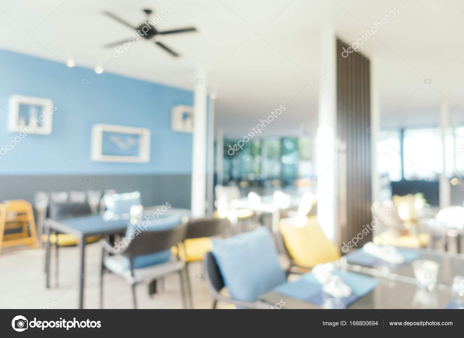Abstract Blur Coffee Shop Cafe And Restaurant Interior Stock Photo C Mrsiraphol 168800694