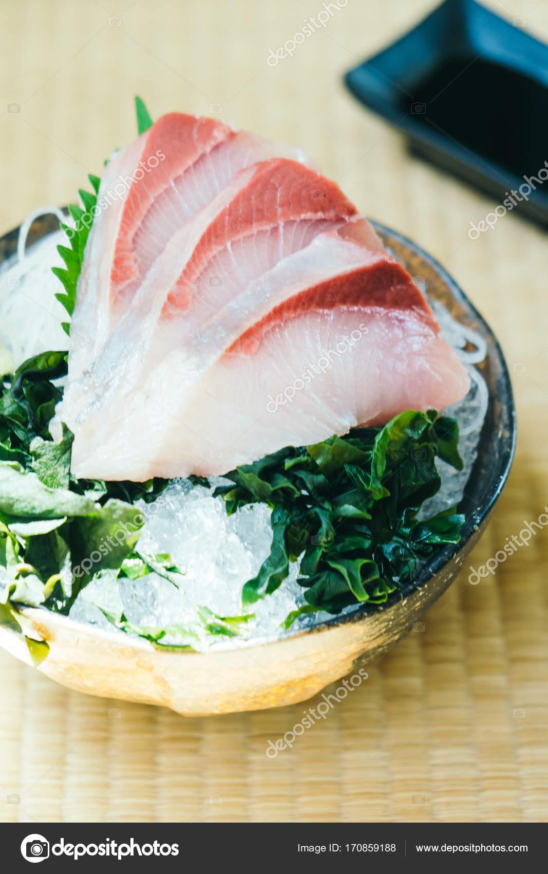 Raw With Fresh Hamachi Meat Fish Sashimi Stock Photo Mrsiraphol