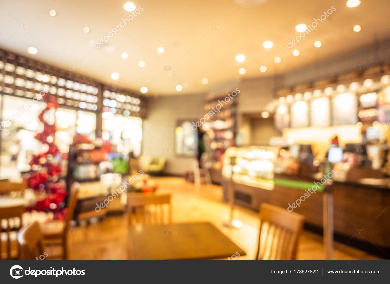 Abstract Verwischen Café Und Restaurant Interieur Für Hintergrund ...