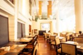 Fotografia Sfuocatura astratta e defocused colazione a buffet allinterno dellhotel ristorante per sfondo - filtro Vintage