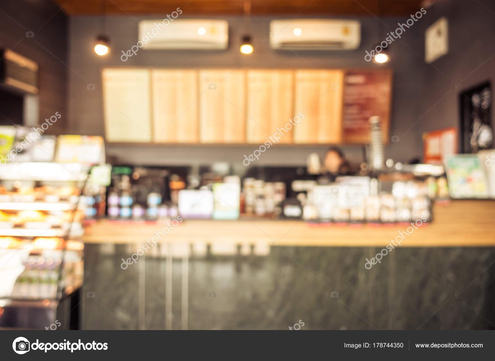 Abstract Blur Defocused Coffee Shop Cafe Restaurant Interior