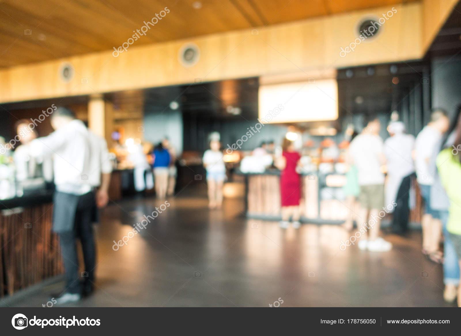 Abstrakt Verwischen Restaurant Interieur Für Hintergrund Vintage ...