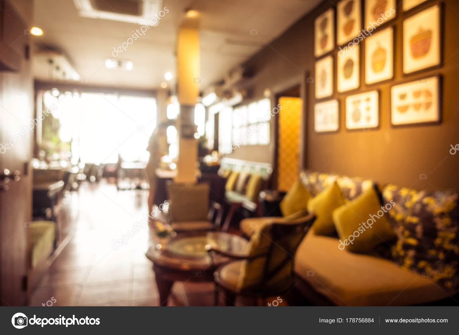 Abstract Blur Coffee Shop Cafe Restaurant Interior Background Vintage Filter Stock Photo C Mrsiraphol 178756884