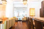 Abstraktní rozmazání a rozostření krásné luxusní hotel lobby a salonek interiéru pro pozadí