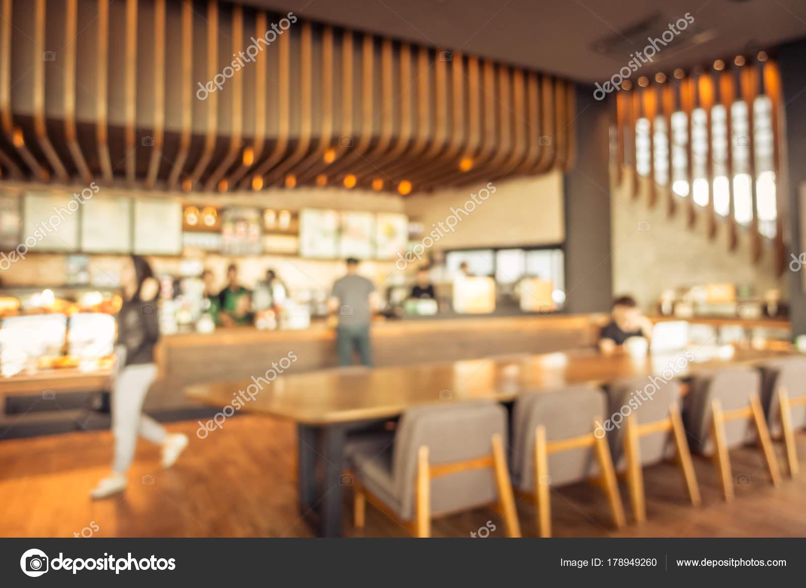 Abstract Onscherpte Intreepupil Koffiehuis Café Restaurant Interieur ...