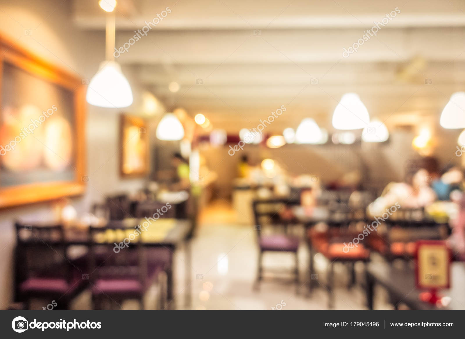 Abstract Blur Coffee Shop Cafe Restaurant Interior Background Vintage Filter Stock Photo C Mrsiraphol 179045496
