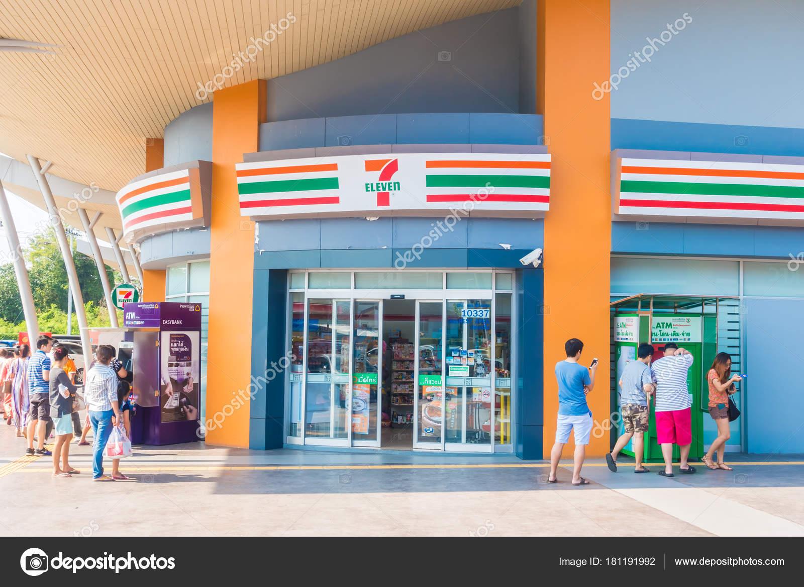 2ecedc6bc0 Nonthaburi, Thaiföld Jan 20 2018 7-11 a kényelem bolt és áruház van egy  csomó franchies, Thaiföld — Fotó szerzőtől ...