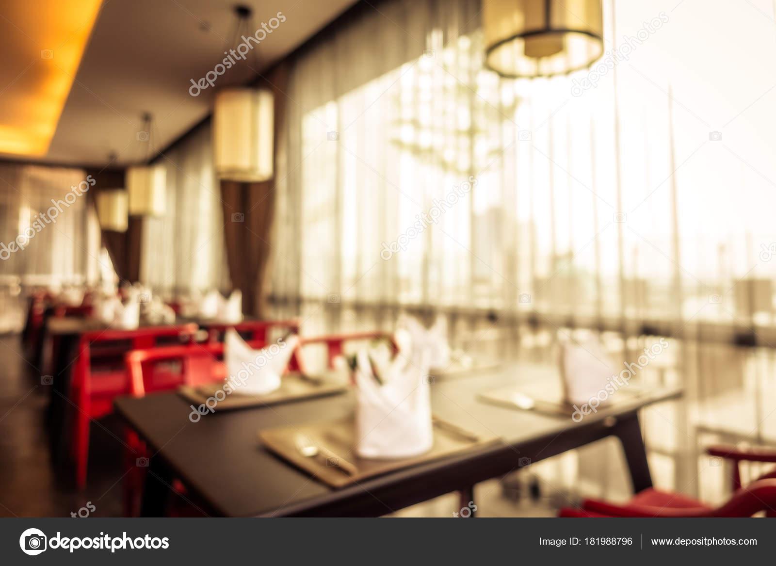 Abstract Blur Restaurant Coffee Shop Interior Background Vintage