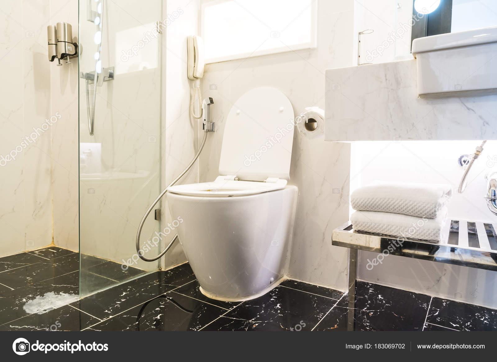 Biały Miska Siedziska Ozdoba Wnętrza łazienki Zdjęcie
