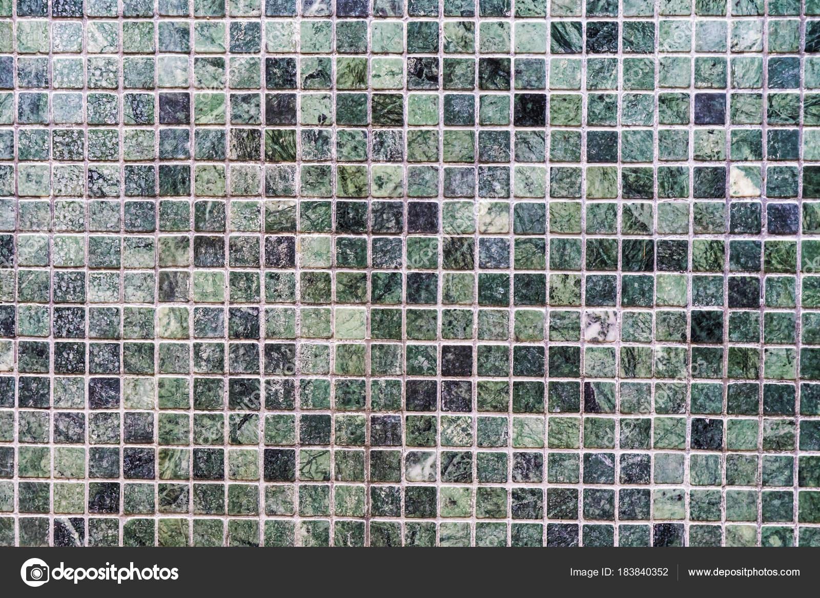Parete verde piastrelle in porcellana mosaico texture sfondo