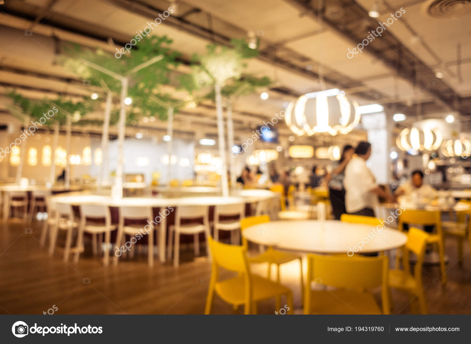 Abstract Blur Defocused Coffee Shop Cafe Restaurant Interior Background Stock Photo C Mrsiraphol 194319760