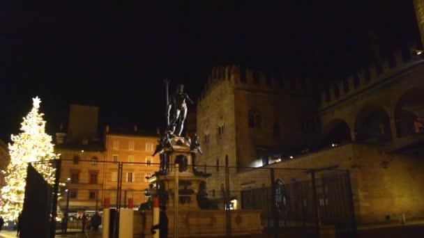 Fontána Neptun v Boloni, kterou vytvořil sochař Jambolon