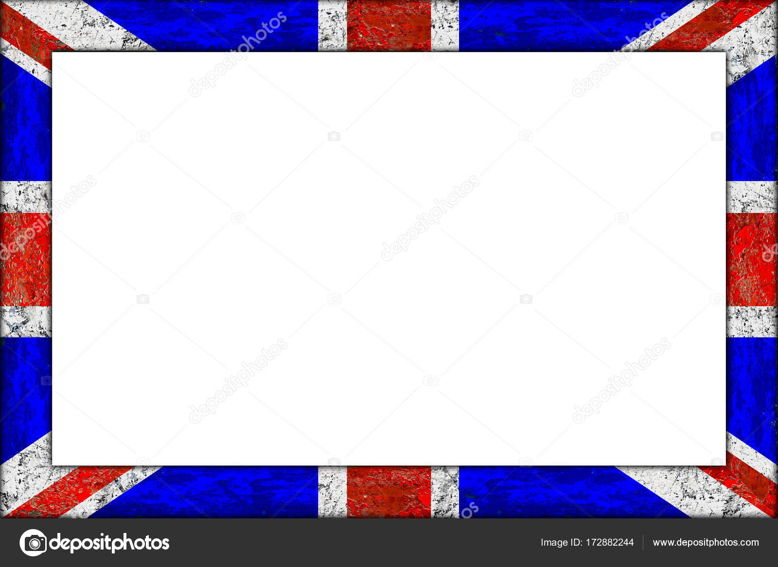 Marco Pizarra Cuadro Vacío Madera Bandera Gran Bretaña Reino Unido ...