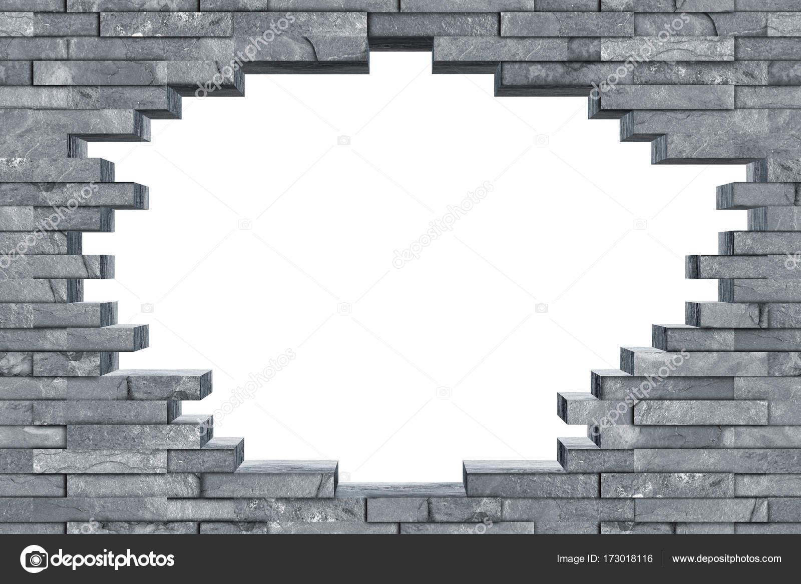 Brilliant Durchbruch Wand Sammlung Von Nahtlose Grauen Schiefer Rock Mit Loch Textur