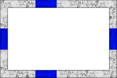 empty wooden picture or blackboard frame in finland finnish flag design isolated on white background