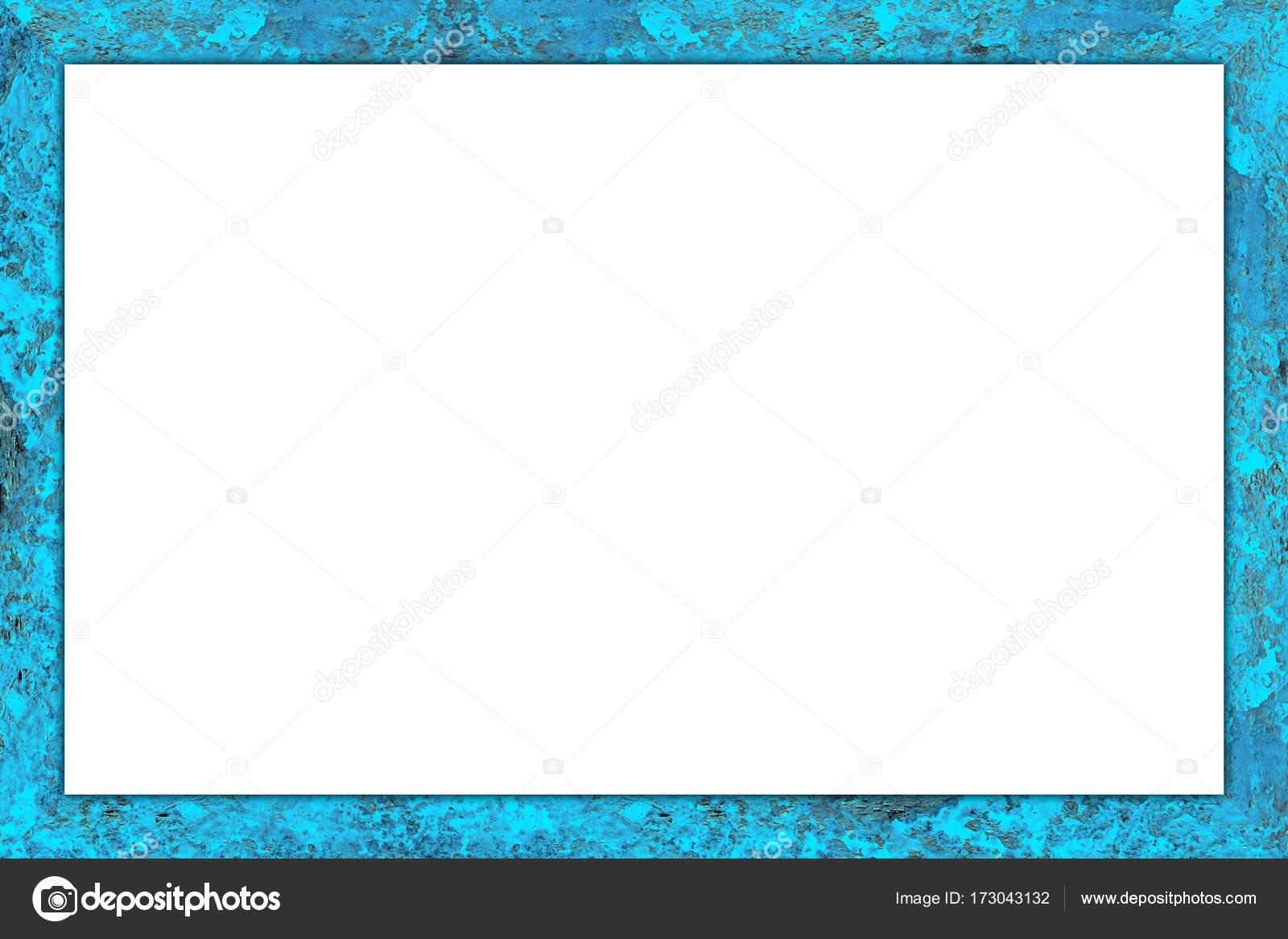 alte blaue verwitterte Holz bunte Bilderrahmen — Stockfoto ...