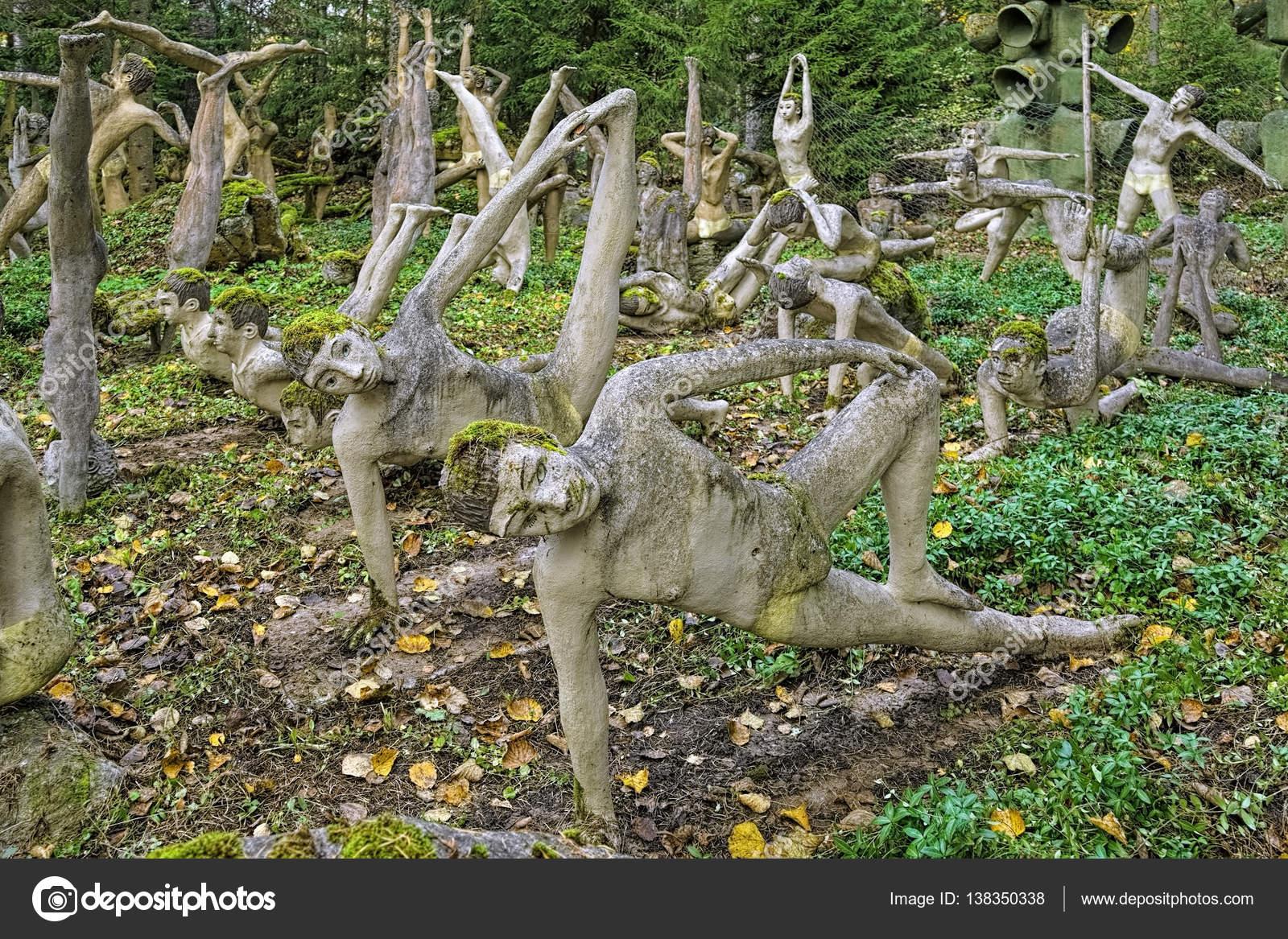 Yoga Garden In Parikkala Sculpture Park, Finland U2014 Stock Photo #138350338