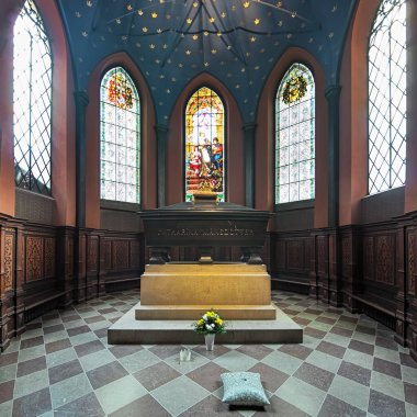 Tomb of Karin Mansdotter, a Queen of Sweden, in Turku Cathedral, Finland