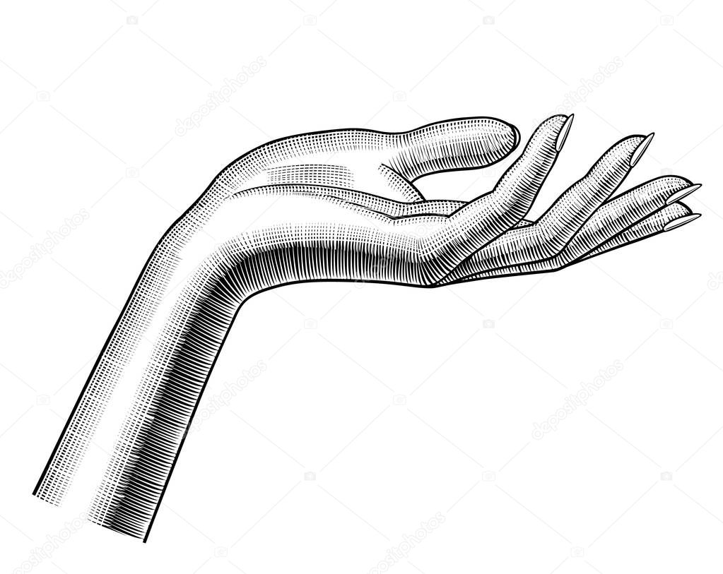 This is a picture of Inventive Old Hand Drawing Of Woman
