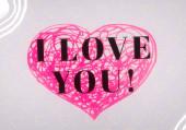Abstrakte Valentine Hintergrundkunst. Herzen auf Leinwand. Bunte romantische Kulisse. Zeitgenössische Kunst. Künstlerische digitale Palette.