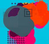 Abstraktní pozadí umění. 3D ilustrace. Tahy štětcem na plátně. Mnohobarevné pozadí. Současné umění. Umělecká digitální paleta.