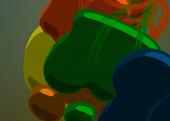 Abstrakte Hintergrundkunst. 3D-Illustration. Pinselstriche auf Leinwand. Bunte Kulisse. Zeitgenössische Kunst. Künstlerische digitale Palette.