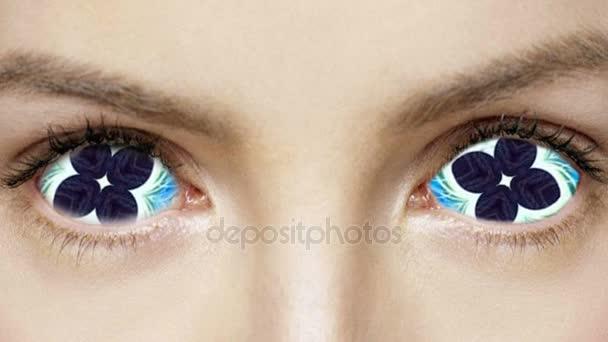 Psychedelické oči abstraktní barevné tvář opilý pozadí