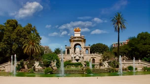 Mozi: 4K. Barcelona, Spanyolország-Parc de la Ciutadella monumentális szökőkút