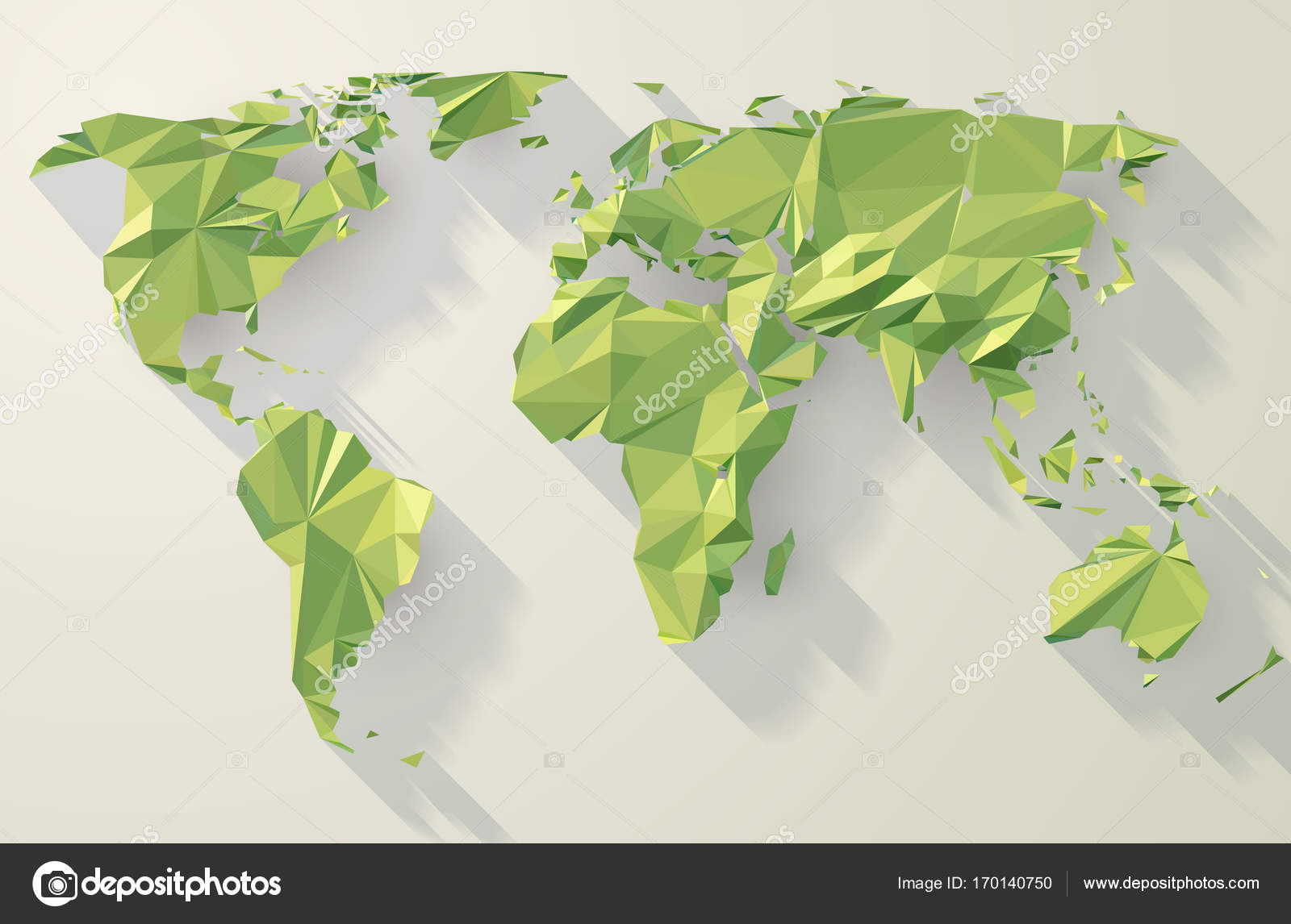 World map low poly design stock vector kundra 170140750 vector world map low poly design green origami planet illustration vector by kundra gumiabroncs