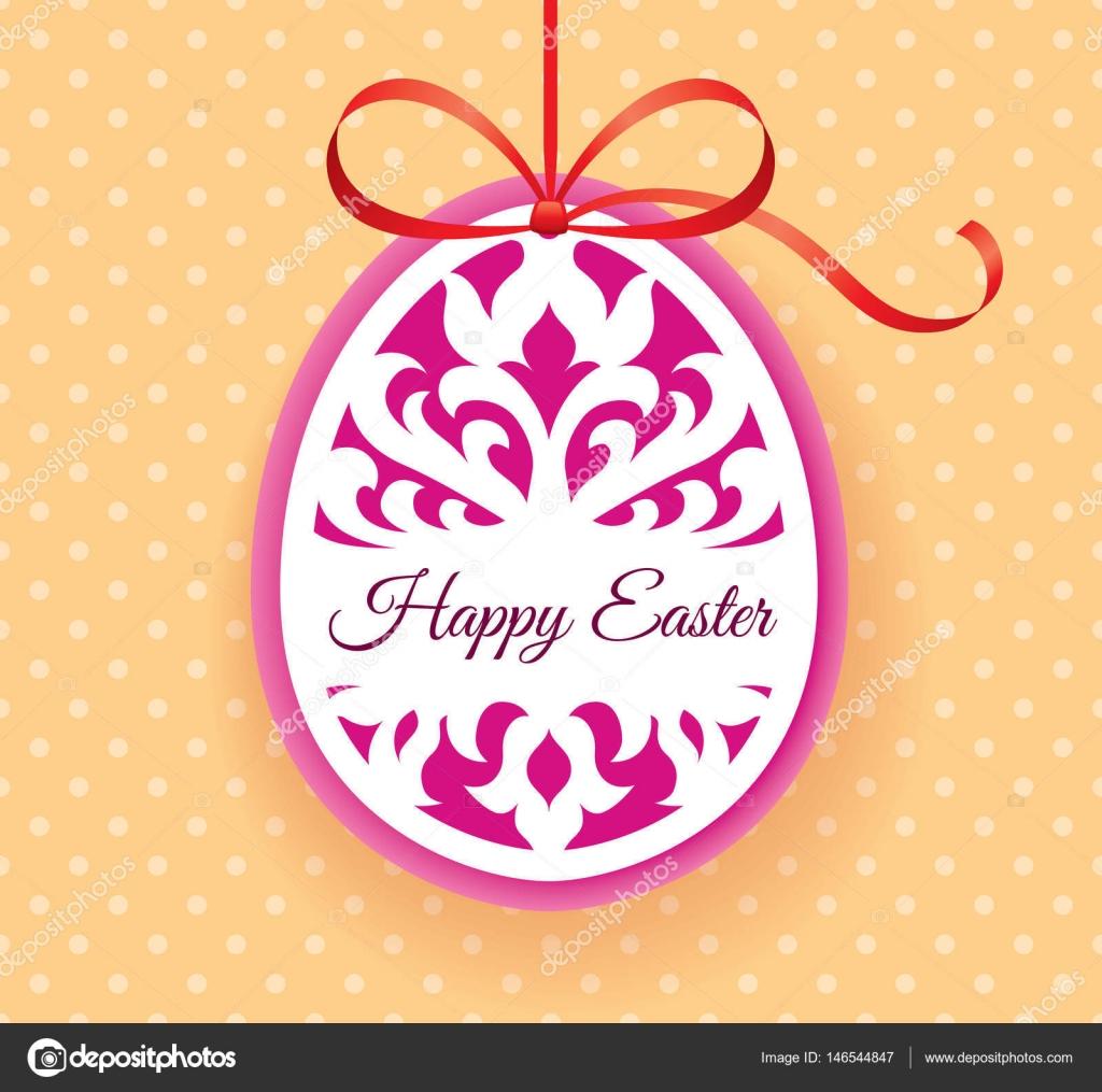 Plantilla de vector de Laser corte huevo de Pascua tarjeta de ...