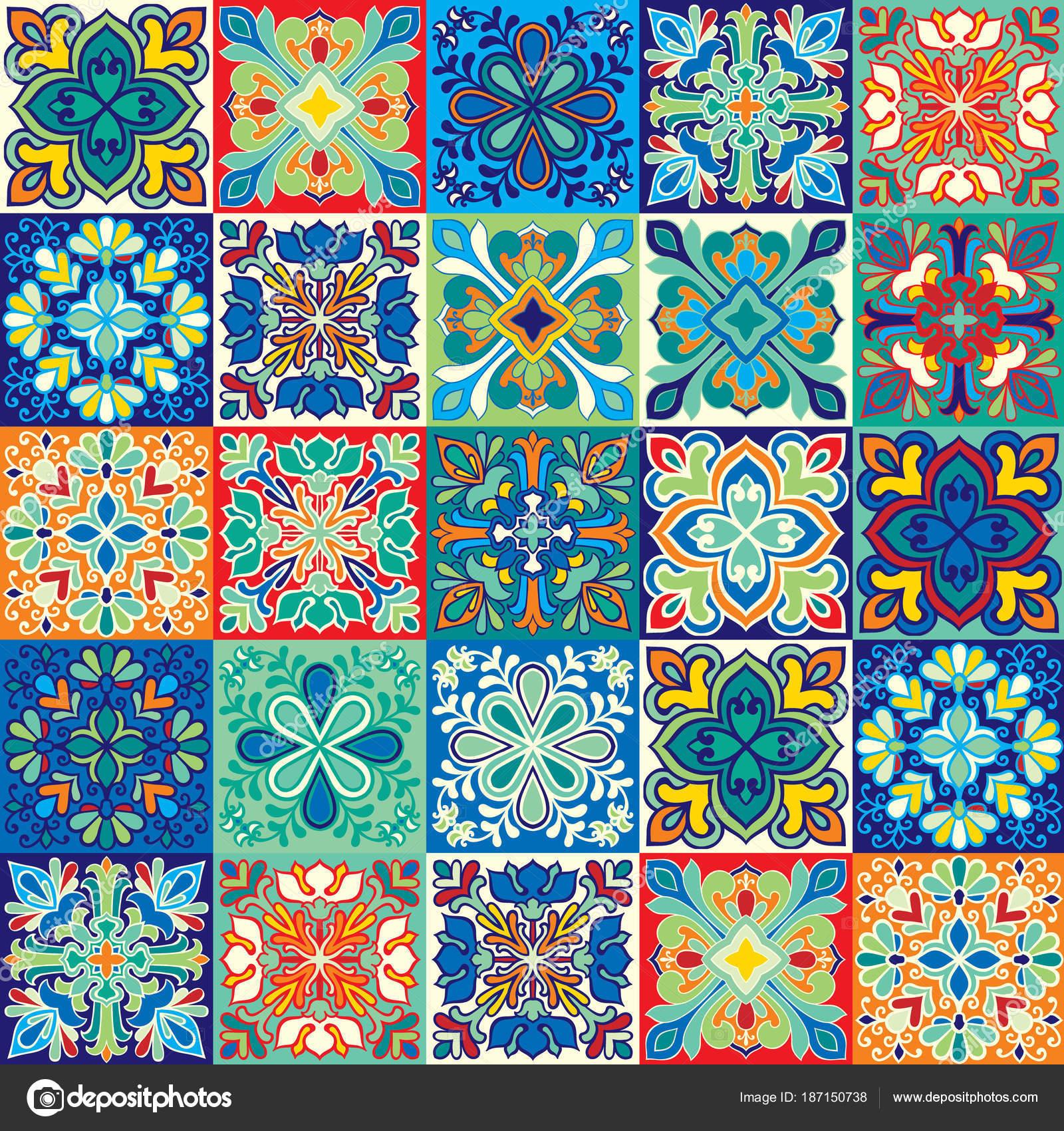 Priorit bassa senza giunte di piastrelle colorate con cucina marocchina arabo portoghesi for Piastrelle cucina colorate