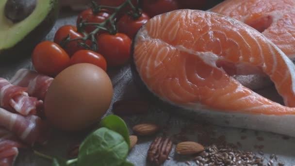 Zdrowe Jedzenie Zywnosci Niskie Carb Dieta Ketogeniczna Posilek Planu Bialka Tluszczu