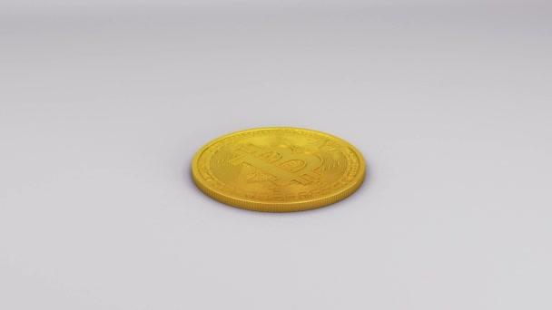 bitcoin izolované na bílém pozadí