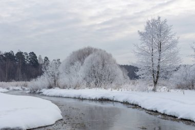 The snowy river of Pekorka