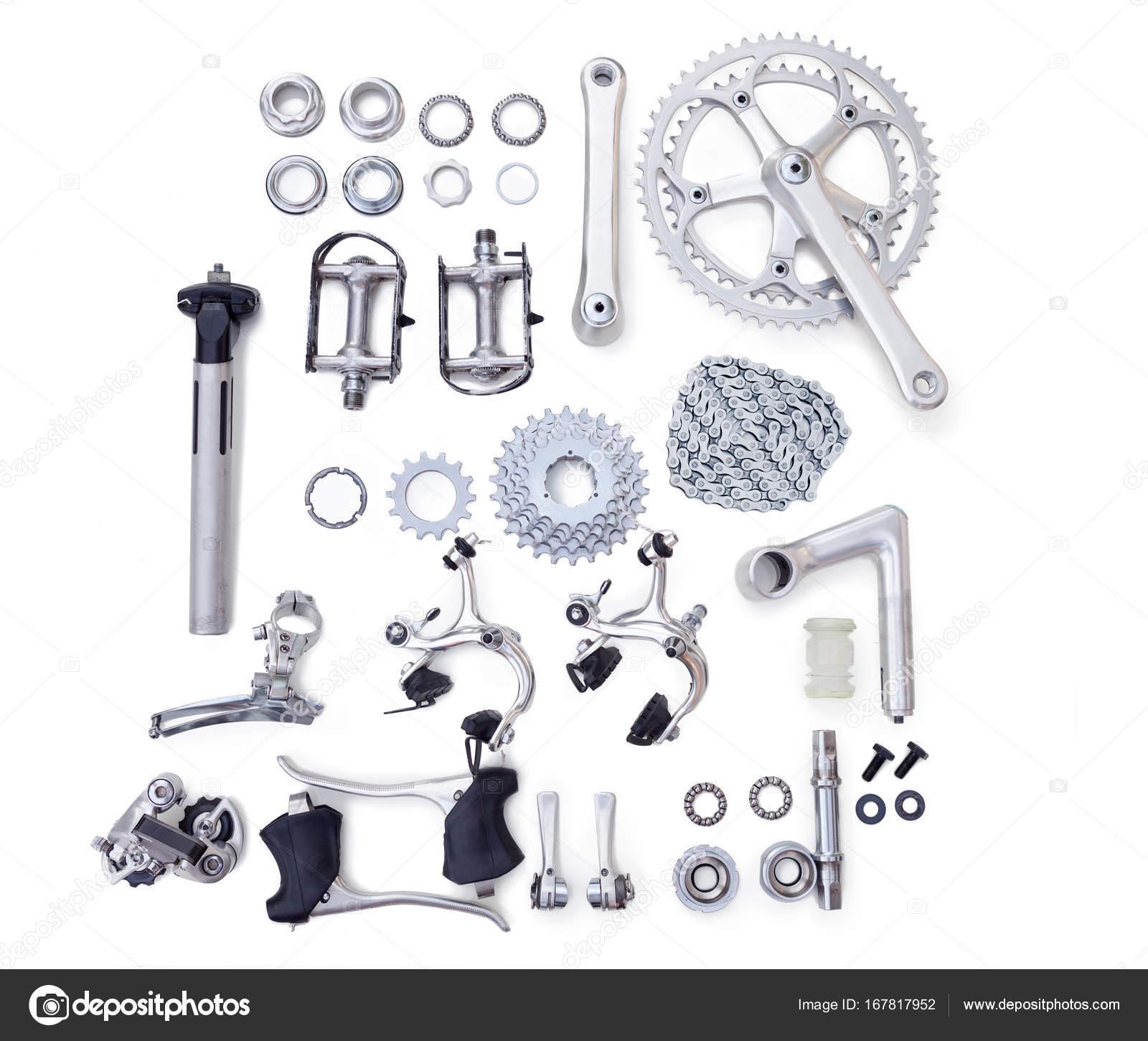 fahrrad reparatur fahrrad ersatzteile stockfoto. Black Bedroom Furniture Sets. Home Design Ideas