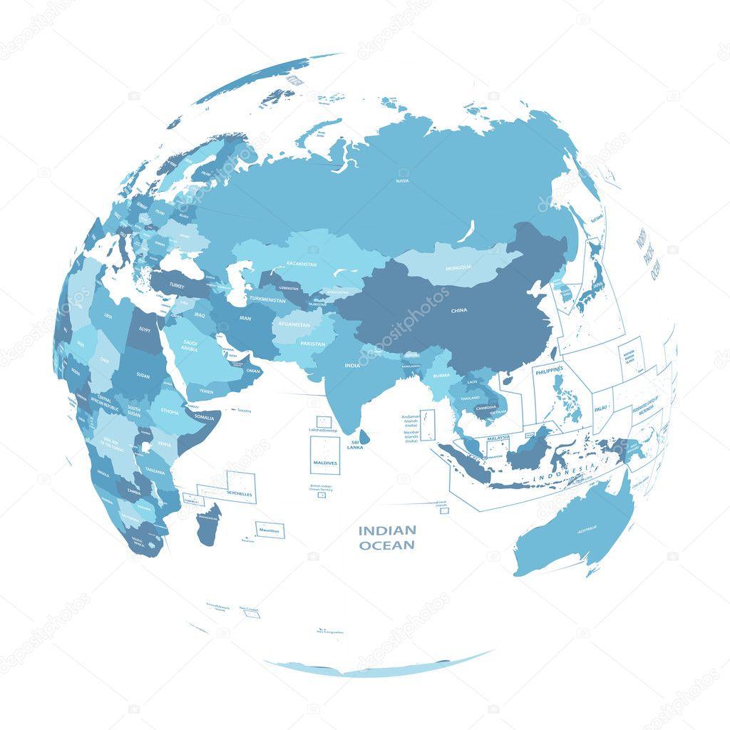 Vector Earth Globe With Political Map Stock Vector C Jktu 21