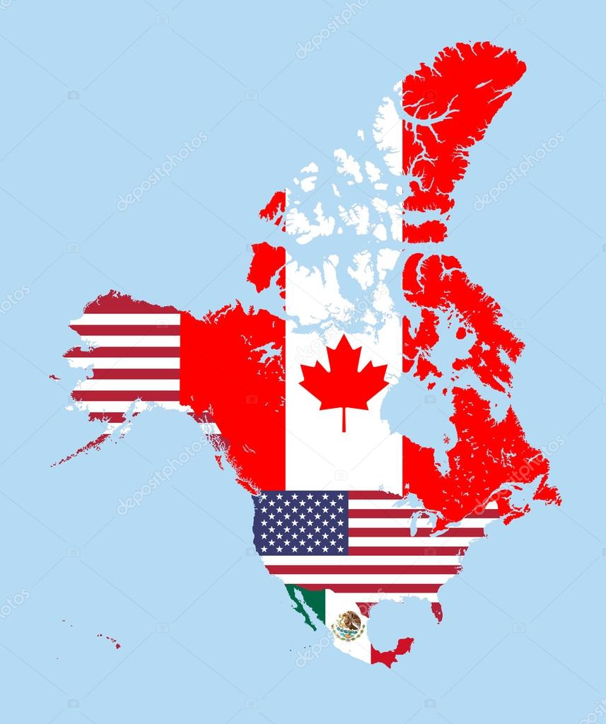Mexico and usa flag combined | Canada, United States and ...