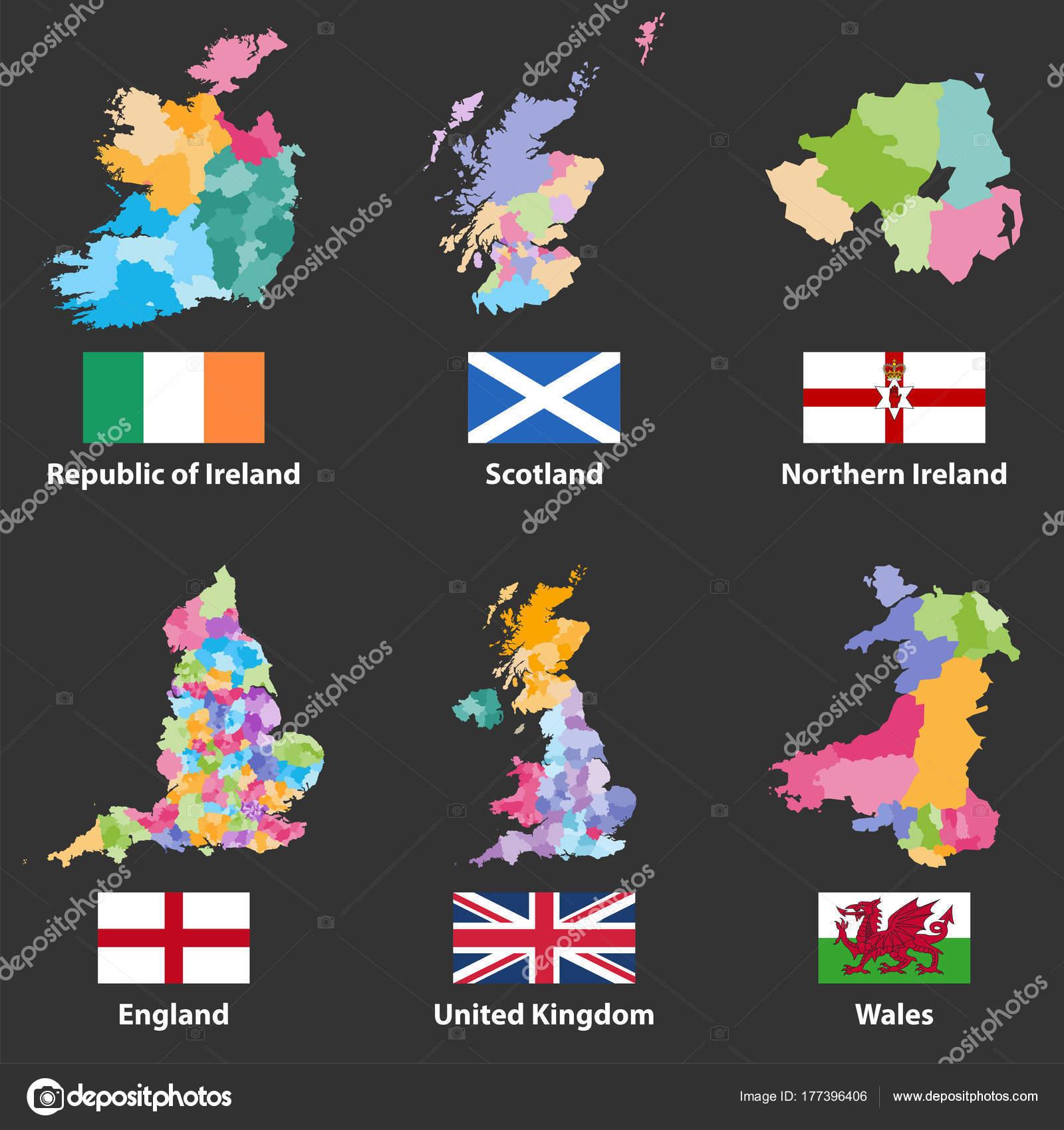 ベクトル地図とアイルランド共和...