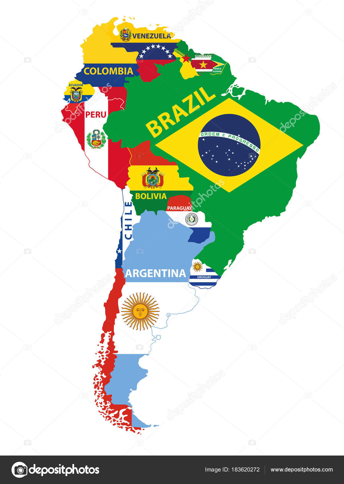 South america map mixed countries flags vector illustration stock south america map mixed countries flags vector illustration stock vector gumiabroncs Image collections
