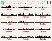 Fotografia Skyline di città di Italia vettoriale