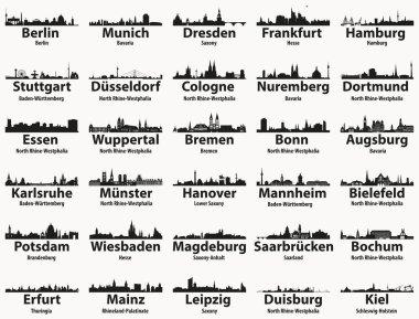 "Картина, постер, плакат, фотообои ""силуэты крупнейших городов германии "", артикул 191064450"