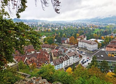 City of Baden or Stadt Baden (view of the ruins of Stein Castle) - Canton of Aargau, Switzerland
