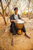 Fotografie african drummer man playing