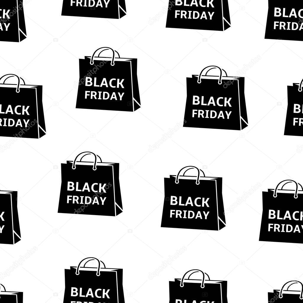 Patrón transparente de negro viernes bolsas — Vector de stock ...