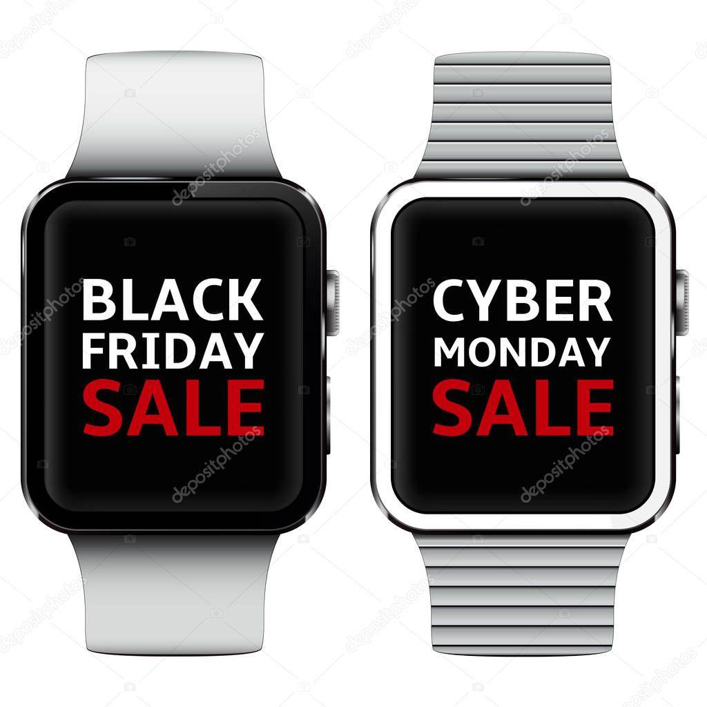 Smart Uhren Mit Black Friday Und Cyber Montag Verkauf Text