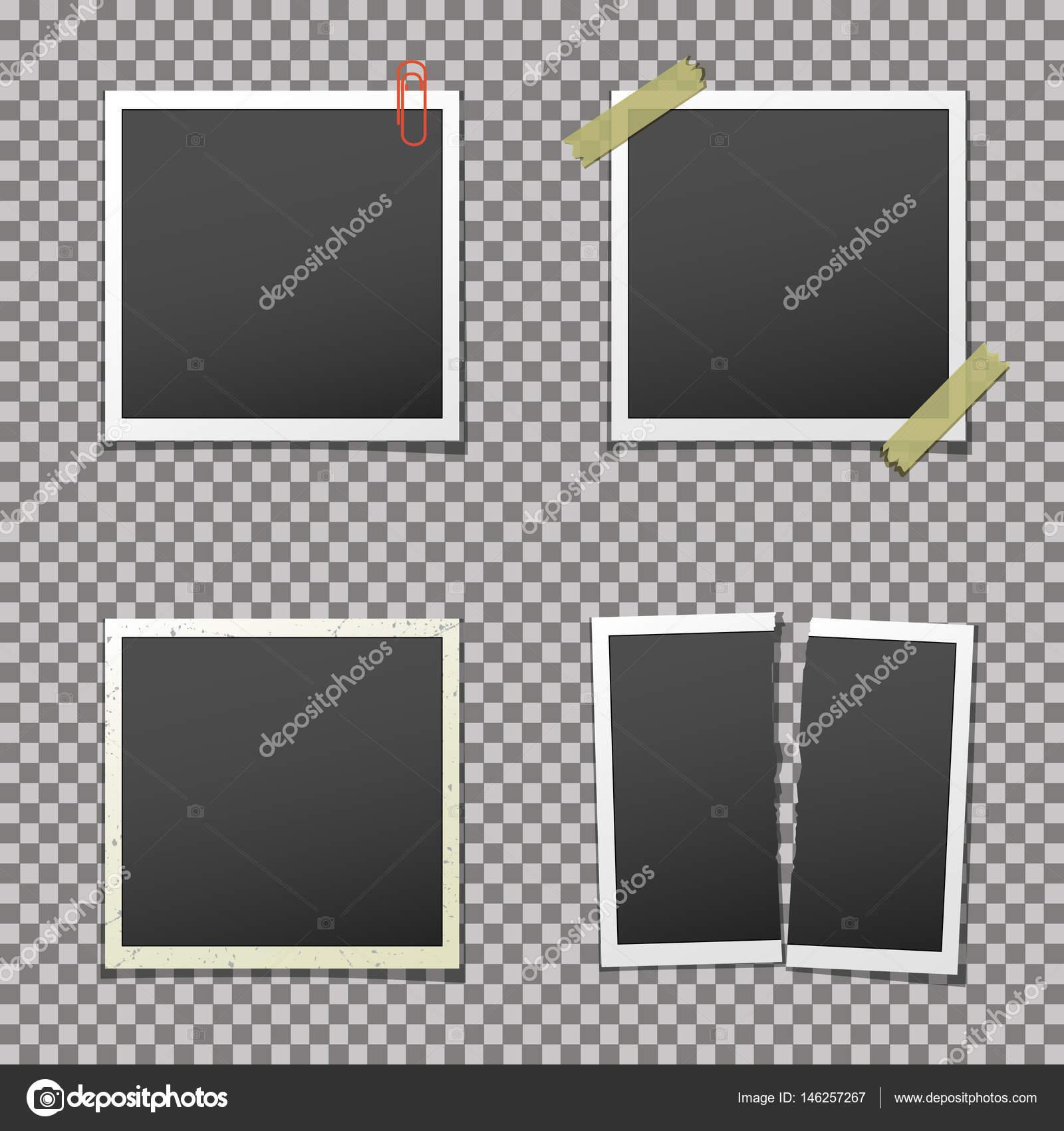 Bilderrahmen mit Schatten auf isolierte Hintergrund — Stockvektor ...