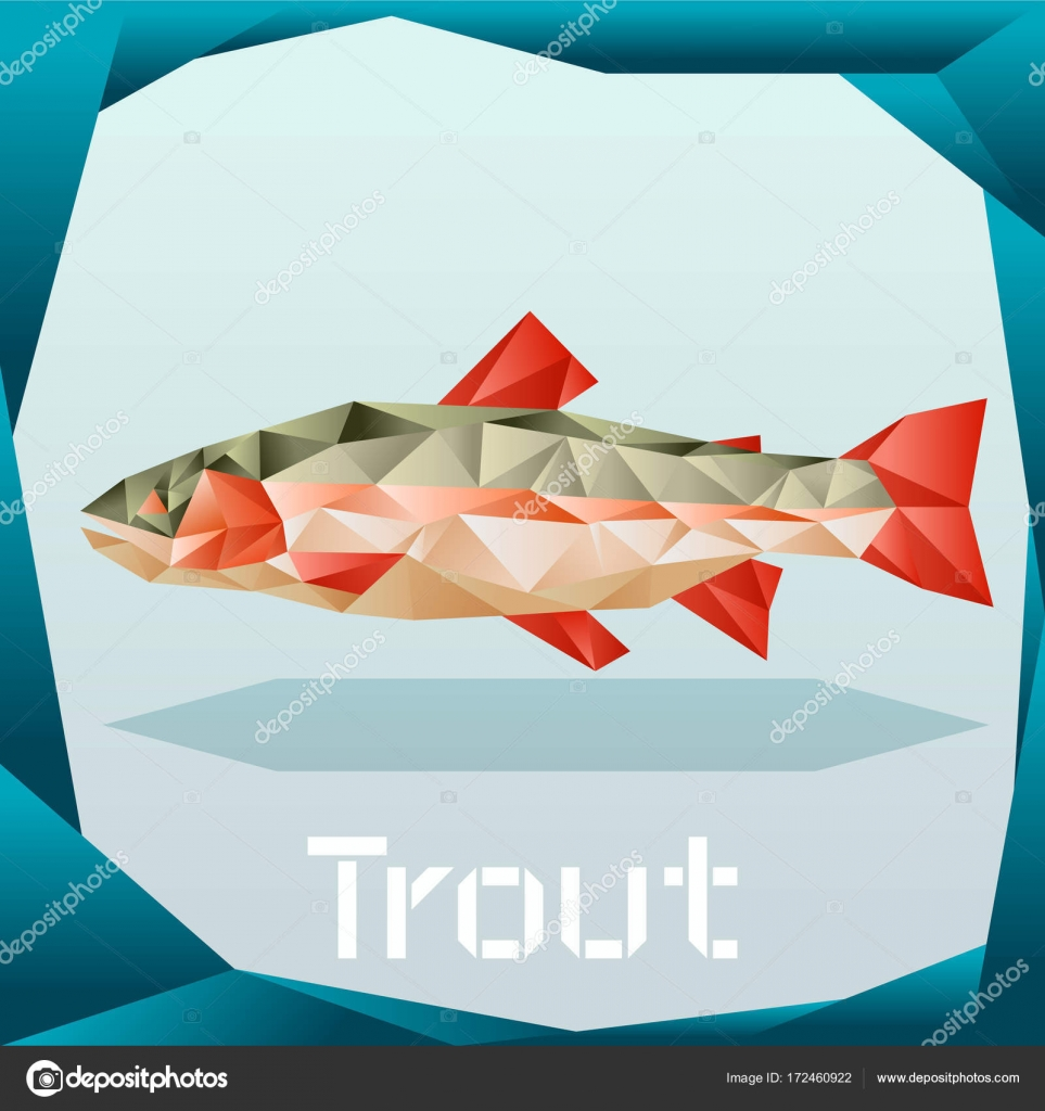 origami trout banner � stock vector 169 kolonorf 172460922